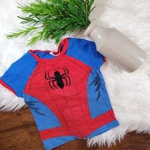 🌿5/$25 Spiderman Red Pajama Top   sz 24m